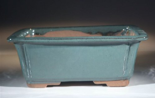 "Ceramic Bonsai Pot - Rectangle,br>8.5"" x 6.5"" x 3.5"""