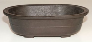 "Oval Mica Bonsai Pot - 11 1/4"" x 8"" x 3"""