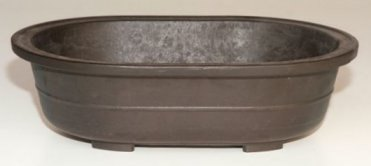 "Oval Mica Bonsai Pot - 14"" x 9 3/4"" x 4"""