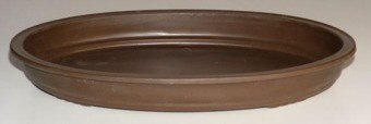 Humidity/Drip Bonsai Tray/Bonsai Pot - Oval Brown