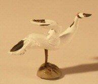 Ceramic Crane Figurine Large - 1 1/2""