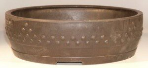 "Mica Bonsai Pot - Round - 15.5""x 4.5"""