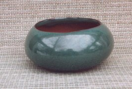 Green Round Ceramic Bonsai Pot
