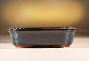 Blue Rectangle Ceramic Bonsai Pot