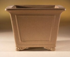 "Unglazed Tan Cascade-8.0""x8.0""x6.0"""