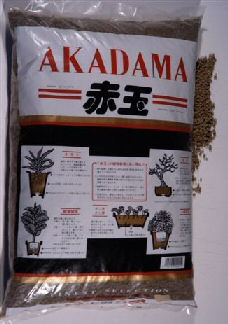 Brown Akadama Japanese bonsai soil 14L