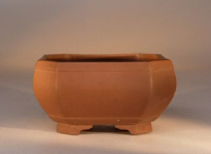 Ceramic Bonsai Pot - Unglazed Square