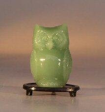 Glass Owl Figurine