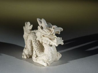 Miniature Bone Dragon Figurine - Medium
