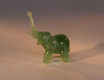 "Glass Elephant  Figurine - 2.75""x1.5""x3.0"""