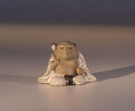 Miniature Longevity Buddha Figurine with White Robe