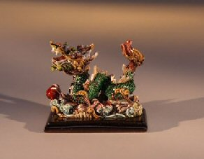 Miniature Dragon Figurine Facing to the Left