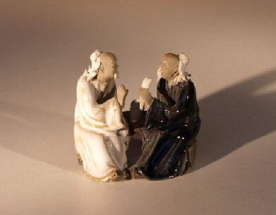 Miniature Glazed Figurine