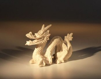 Miniature Bone Dragon Figurine - Large