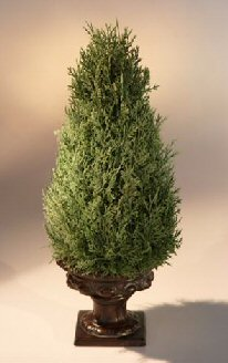 Artificial Classic Cone Cedar Topiary