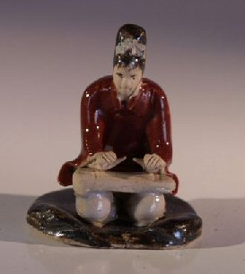 Female Musician Ceramic  Figurine
