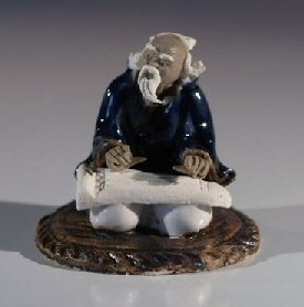 Male Musician Ceramic  Figurine