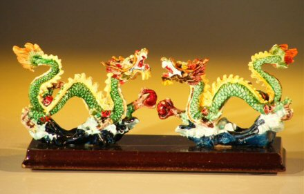 Two Snake Dragon  Miniature Figurines
