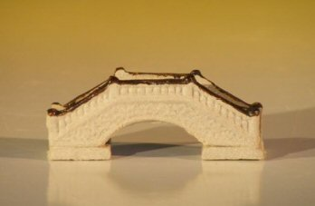 Miniature Ceramic Bridge Figurine